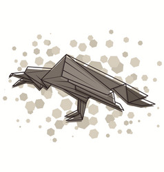 Abstract raven vector