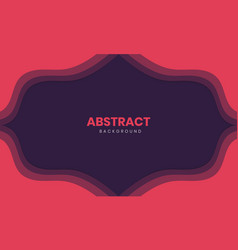 abstract stylish paper cut background vector image