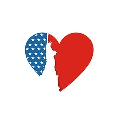 America usa logo liberty love icon vector