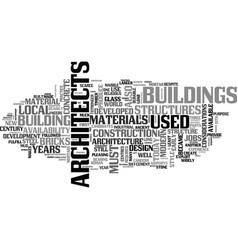 architecture and architects jobs text word cloud vector image
