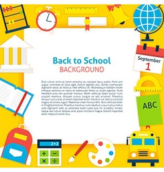 Back to School Paper Concept vector