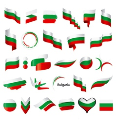 Biggest collection of flag of bulgaria vector