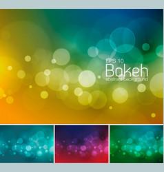 blur and bokeh duotone 1 vector image