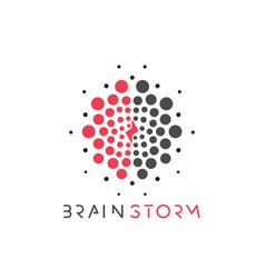 brain logo concept brainstorm creative vector image