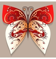 Bright decorative butterfly vector