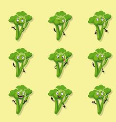 broccoli positive emotions vector image