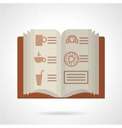 Brown menu flat color icon vector