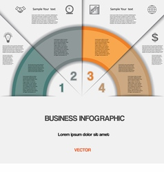 Business infographic for success project vector image