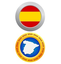 button as a symbol of Spain vector image