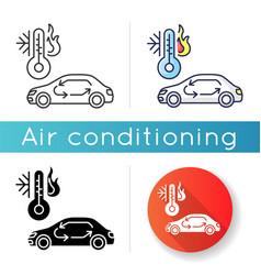 car air conditioning icon vector image