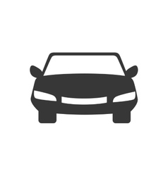 car front automobile auto vehicle icon vector image