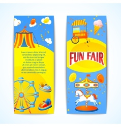 Carnival banners vertical vector image