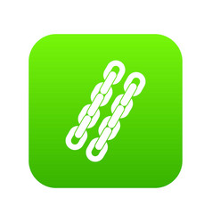 Chains icon digital green vector