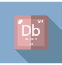 Chemical element Dubnium Flat vector