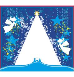 Christmas angels christmas religious nativity vector