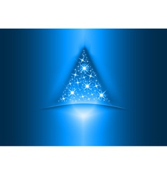 christmas tree star vector image