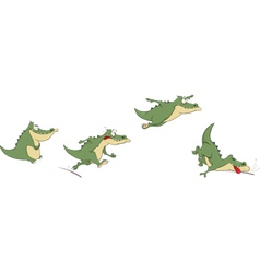 Crocodiles vector image