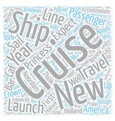 Cruise ship reviews text background wordcloud vector
