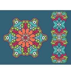 Decoration ring and psychedelic seamless pattern vector image