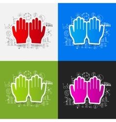 Drawing business formulas prayer vector image