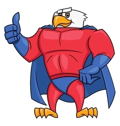 Eagle superhero thumb up gesture 2 vector image
