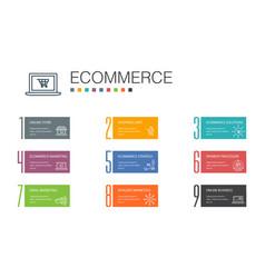 Ecommerce infographic 10 option line concept vector