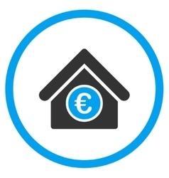 Euro Financial Center Rounded Icon vector