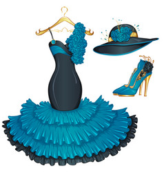 Fashion evening dress vector