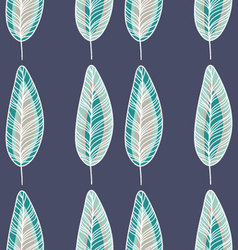 Feathers in Blue and Mint Colors vector