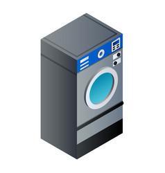 Full laundry wash machine icon isometric style vector