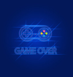 Game over abstract technology interface banner vector