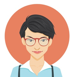 Geeky Girl vector