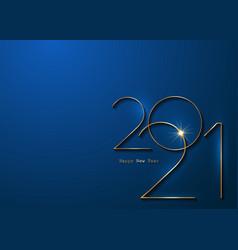 golden 2021 new year 3d logo blue banner vip card vector image