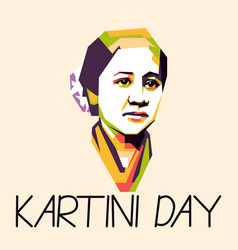 Greeting for kartini day woman hero from vector