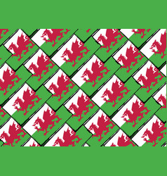 Grunge wales flag or banner vector