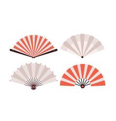 Hand fan chinese fold clipart icon japan held fan vector