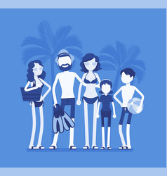 happy family rest at the resort in summer vector image