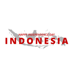 happy independence day indonesia banner indonesia vector image