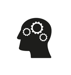 Head of work icon good come up idea vector