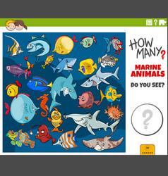 How many marine animals educational task vector