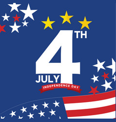 Independence day 4 july vector