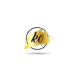 Initial letter ko logo template design vector