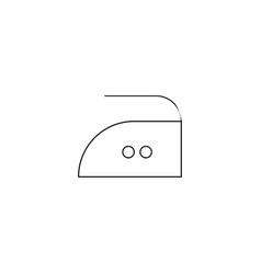 iron at medium temperature symbol icon black vector image