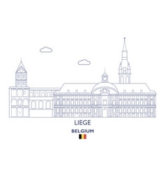 liege city skyline vector image