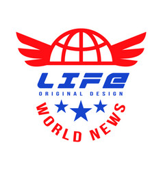 life world news original design social mass media vector image