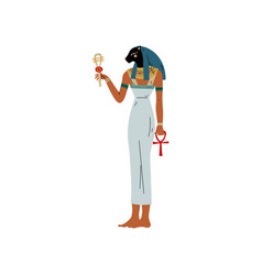 Maat goddess justice symbol ancient vector