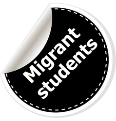 Migrant students of realistic vector