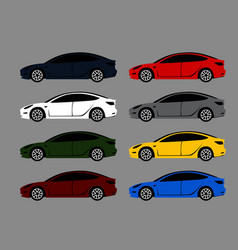 modern city car in different color options vector image