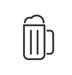 mug beer line icon vector image
