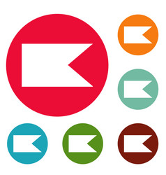new flag icons circle set vector image